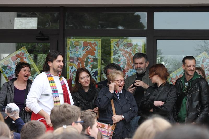 Otvorenje pred školom, Vinka Potočki